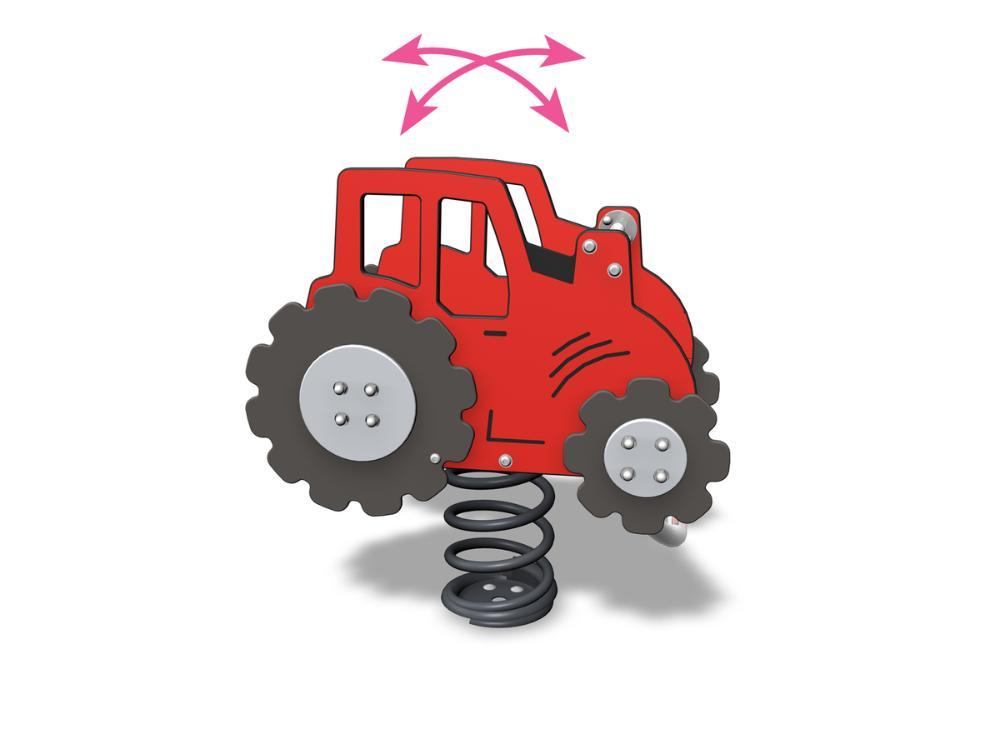 Traktor Federtier für Zwei