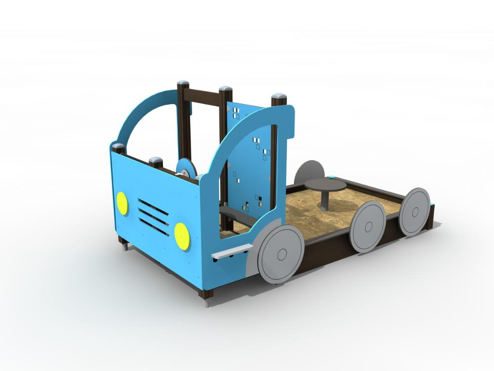 Sandlåda, Lastbil