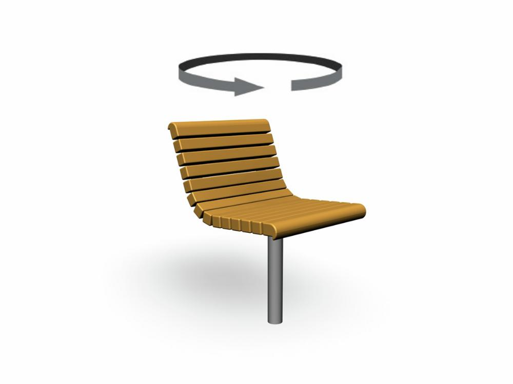 YARDEN CHAIR, rotating