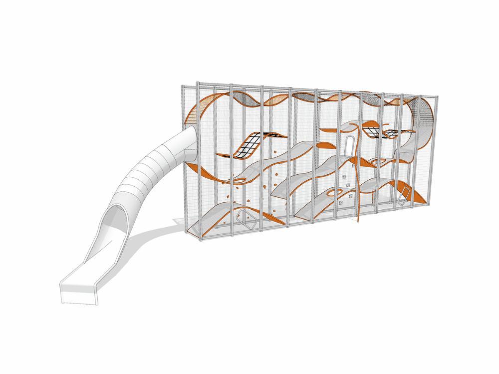 Wall-Holla 10m mit externer Rutsche