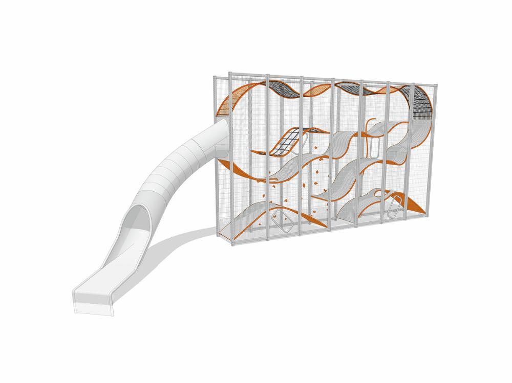 Wall-Holla 7m mit externer Rutsche