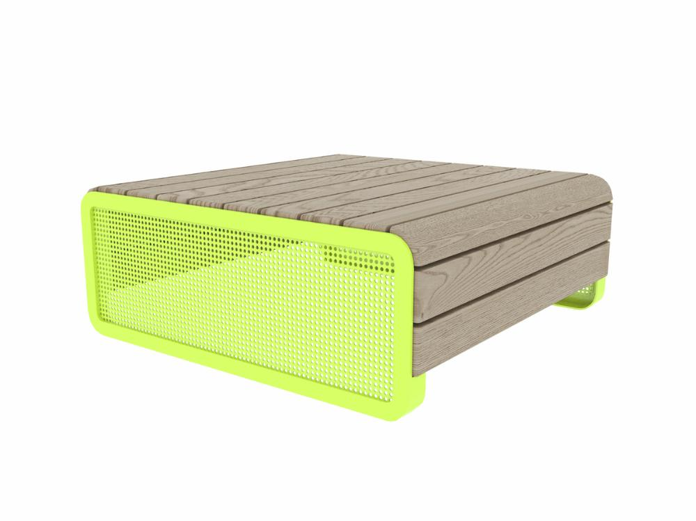 CHILLOUT PALLET, DEEP MOUNTING WITH FOUNDATION PLATES