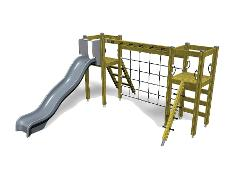 PLAY TOWERS WITH CLIMBING