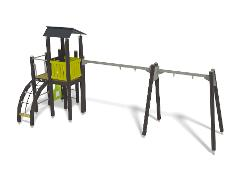 PLAY TOWER WITH TWO SWING