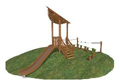 SMALL PLAY HOUSE WITH STEPS