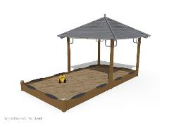 SANDBOX WITH ROOF 2,4X4.8