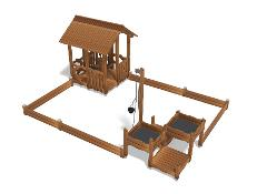 PLAY HOUSE AND SAND PLAY