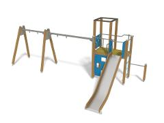 PLAY TOWER & SWING FOR TWO