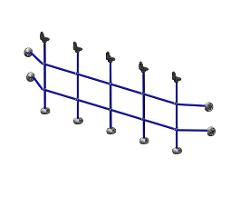 701055SP HANDRAIL NET 2375x700 120M BLUE