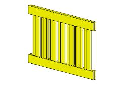 706997-610SP WOODEN WALL 80MD 45x640x984 YELLOW