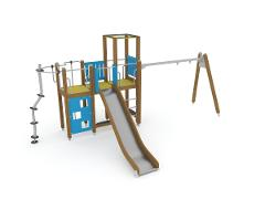 PLAY TOWERS WITH SWING
