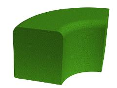 Softblock curve, green