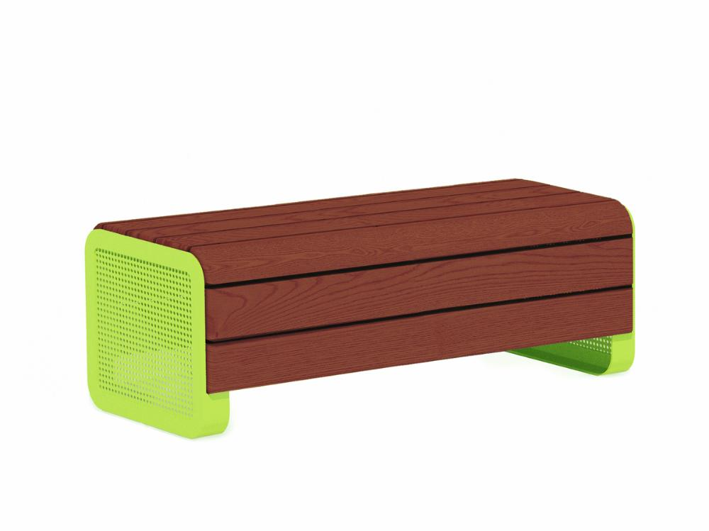 Chillout bench, jatoba, deep mounting with foundation plates