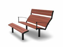 Nifo Easy Sun bench with foot rest