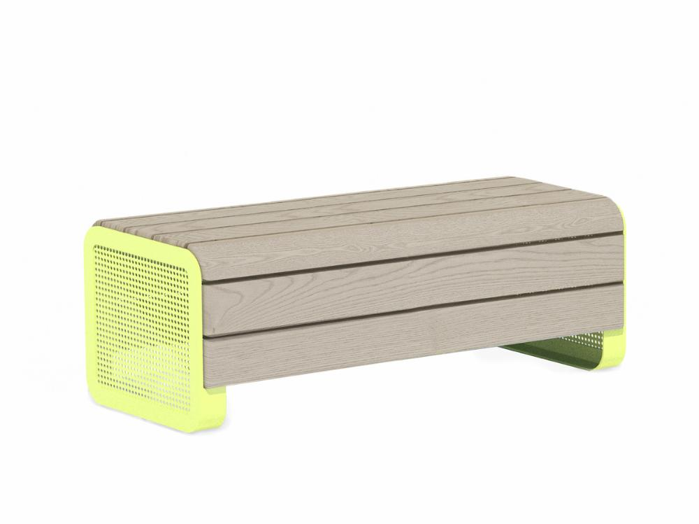 CHILLOUT BENCH, LINAX, DEEP MOUNTING WITH FOUNDATION PLATES