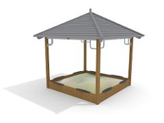 SANDBOX WITH ROOF